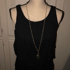 BCBG black belted mini dress with front pockets.